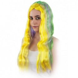 Peluca hippie multicolor